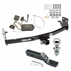 "Trailer Tow Hitch For 04-12 Chevy Colorado GMC Canyon 06-08 Isuzu i-280 i-290 i-350 i-370 Complete Package w/ Wiring and 1-7/8"" Ball"