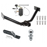 """Trailer Tow Hitch For 07-12 Acura MDX Except w/Full Size Spare Complete Package w/ Wiring and 1-7/8"""" Ball"""
