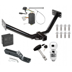 """Trailer Tow Hitch For 07-12 Acura MDX Except w/Full Size Spare Deluxe Package Wiring 2"""" Ball and Lock"""