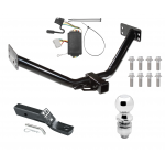 """Trailer Tow Hitch For 07-12 Acura MDX Except w/Full Size Spare Complete Package w/ Wiring and 2"""" Ball"""