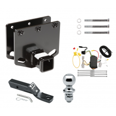 "Trailer Tow Hitch For 08-10 Toyota Sequoia Complete Package w/ Wiring and 1-7/8"" Ball"