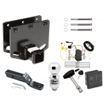 """Trailer Tow Hitch For 08-10 Toyota Sequoia Deluxe Package Wiring 2"""" Ball and Lock"""