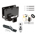 """Trailer Tow Hitch For 08-10 Toyota Sequoia Complete Package w/ Wiring and 2"""" Ball"""