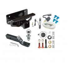 """Trailer Tow Hitch For 03-18 Dodge RAM 1500 03-09 2500 3500 Complete Package w/ Wiring and 1-7/8"""" Ball"""
