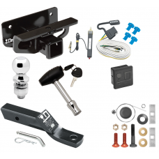 """Trailer Tow Hitch For 03-18 Dodge RAM 1500 03-09 2500 3500 Deluxe Package Wiring 2"""" Ball and Lock"""