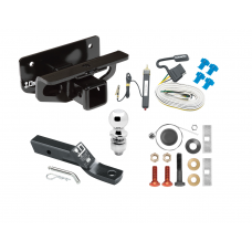 """Trailer Tow Hitch For 03-18 Dodge RAM 1500 03-09 2500 3500 Complete Package w/ Wiring and 2"""" Ball"""