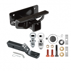 """Trailer Tow Hitch For 03-18 Dodge Ram 1500 (2019 Classic) 03-09 2500 3500 Receiver w/ 1-7/8"""" and 2"""" Ball"""