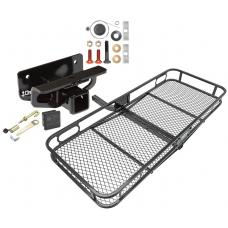 Trailer Tow Hitch For 03-19 Dodge Ram 1500 2500 3500 Basket Cargo Carrier Platform Hitch Lock and Cover