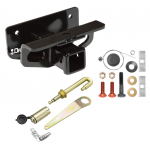 Trailer Tow Hitch For 03-18 Dodge Ram 1500 03-09 2500 3500 Class 3 Receiver w/ J-Pin Anti-Rattle Lock
