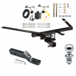 "Trailer Tow Hitch For 10-19 Ford Taurus Complete Package w/ Wiring and 1-7/8"" Ball"