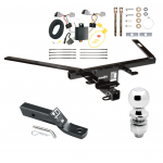 """Trailer Tow Hitch For 10-19 Ford Taurus Complete Package w/ Wiring and 2"""" Ball"""