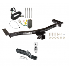 "Trailer Tow Hitch For 10-15 Lexus RX450h 13-15 RX350 Complete Package w/ Wiring and 2"" Ball"