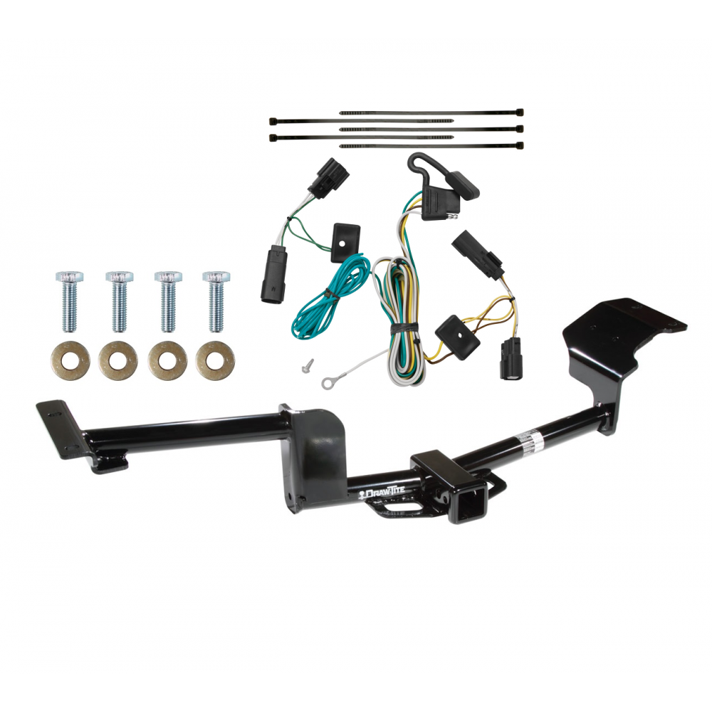 Trailer Tow Hitch For 09-20 Ford Flex w/ Wiring Harness KitTrailerJacks.com