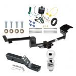 """Trailer Tow Hitch For 15-17 Lincoln MKT Complete Package w/ Wiring and 2"""" Ball"""