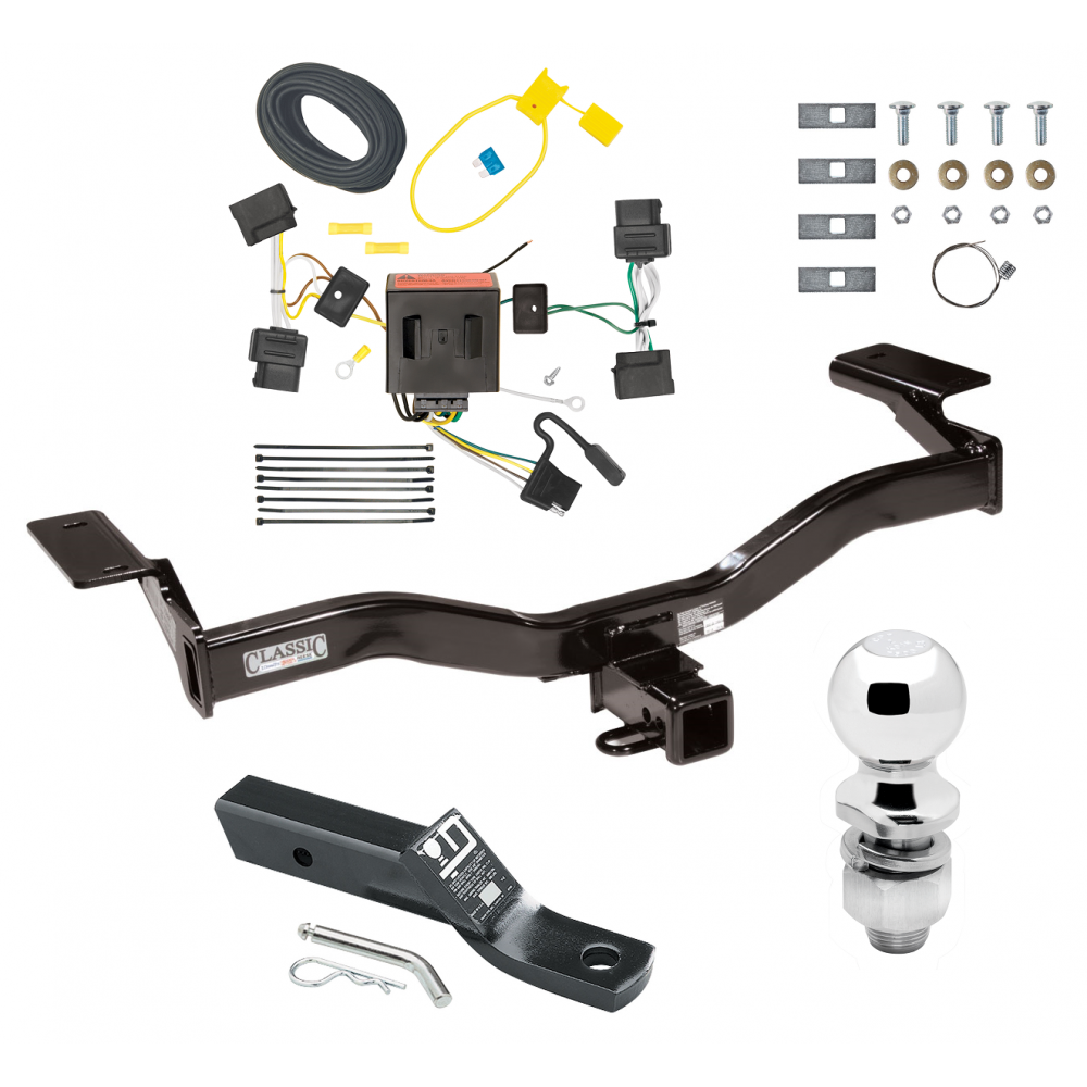 trailer tow hitch for 09-10 ford edge sport complete package w/ wiring and  2