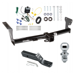 """Trailer Tow Hitch For 08-14 Land Rover LR2 Complete Package w/ Wiring and 1-7/8"""" Ball"""