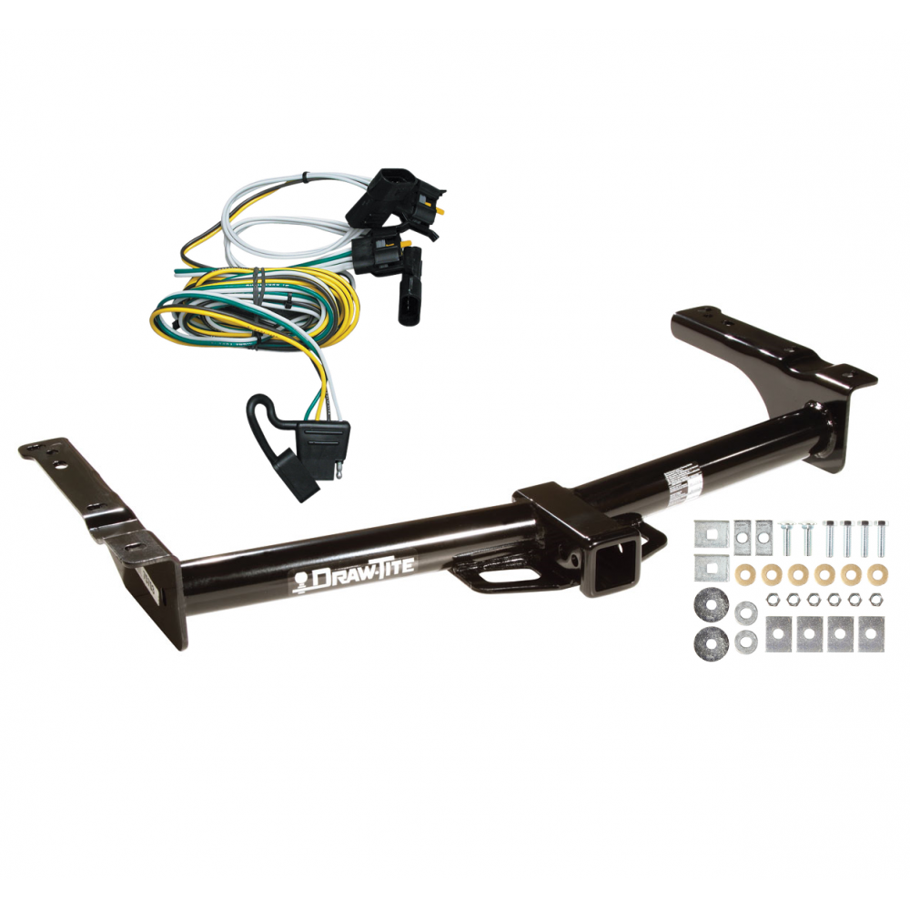 Trailer Tow Hitch For 95-02 Ford Van E150 E250 E350 w/ Wiring Harness KitTrailerJacks.com