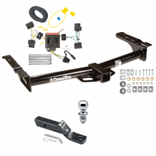 """Trailer Tow Hitch For 08-14 Ford Van E150 E250 E350 Complete Package w/ Wiring and 1-7/8"""" Ball"""