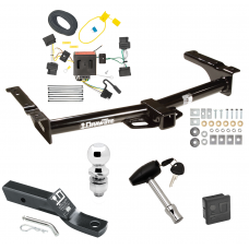 """Trailer Tow Hitch For 08-14 Ford Van E150 E250 E350 Deluxe Package Wiring 2"""" Ball and Lock"""