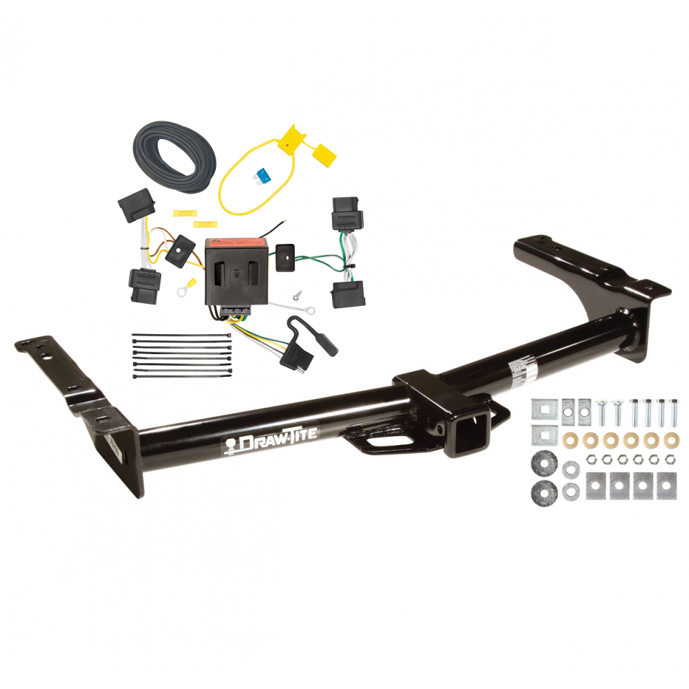 trailer tow hitch for 08-14 ford van e150 e250 e350 w/ wiring harness kit
