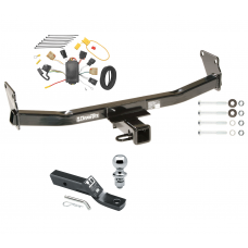 "Trailer Tow Hitch For 07-10 Jeep Compass 07 Patriot Complete Package w/ Wiring and 1-7/8"" Ball"