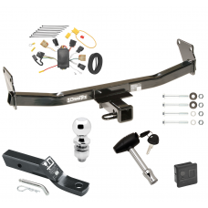 "Trailer Tow Hitch For 07-10 Jeep Compass 07 Patriot Deluxe Package Wiring 2"" Ball and Lock"