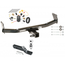 "Trailer Tow Hitch For 07-10 Jeep Compass 07 Patriot Complete Package w/ Wiring and 2"" Ball"