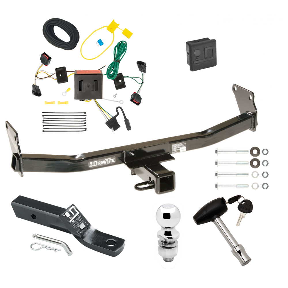 Trailer Tow Hitch For 08-17 Jeep Patriot Deluxe Package Wiring 2