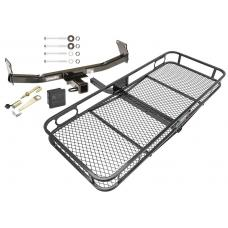 Trailer Tow Hitch For 07-17 Jeep Compass Jeep Patiot Basket Cargo Carrier Platform Hitch Lock and Cover