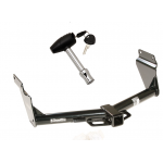 Trailer Tow Hitch For 11-19 Dodge Durango 14-19 Jeep Grand Cherokee w/ Security Lock Pin Key