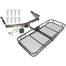 Trailer Hitch For 12-19 Nissan NV1500 NV2500 NV3500 Basket Cargo Carrier Platform Hitch Lock and Cover