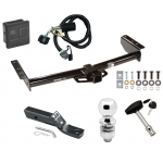 """Trailer Tow Hitch For 00-06 Chevy GMC Tahoe Yukon XL Denali Suburban 1500 2500 Deluxe Package Wiring 2"""" Ball and Lock"""