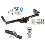 """Trailer Tow Hitch For 02-06 Chevy Avalanche 1500 2500 02 Cadillac Escalade Complete Package w/ Wiring and 1-7/8"""" Ball"""