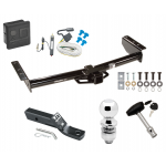 """Trailer Tow Hitch For 02-06 Chevy Avalanche 1500 2500 02 Cadillac Escalade Deluxe Package Wiring 2"""" Ball and Lock"""