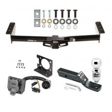 "Trailer Hitch Package w/ Wiring For 00-06 Chevy GMC Tahoe Yukon XL Denali Suburban Escalade Avalanche 1500 2500 w/ Factory 7-Way w/ 2"" Ball 2"" Drop Mount Pin Blade RV Class 3"