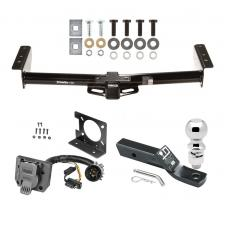 "Trailer Hitch Package w/ Wiring For 00-06 Chevy GMC Tahoe Yukon XL Denali Suburban Escalade Avalanche 1500 2500 w/ Factory 7-Way w/ 2-5/16"" Ball 2"" Drop Mount Pin Blade RV Class 3"