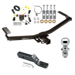 """Trailer Tow Hitch For 11-14 Ford Edge Sport Complete Package w/ Wiring and 1-7/8"""" Ball"""