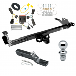 """Trailer Tow Hitch For 08-12 Toyota Hilux Complete Package w/ Wiring and 1-7/8"""" Ball"""