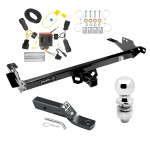 """Trailer Tow Hitch For 08-12 Toyota Hilux Complete Package w/ Wiring and 2"""" Ball"""