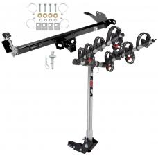 Trailer Tow Hitch For 08-14 Toyota Hilux w/ 4 Bike Carrier Rack