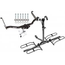 Trailer Tow Hitch For 04-10 Infiniti QX56 Nissan Armada Pathfinder Platform Style 2 Bike Rack w/ Anti Rattle Hitch Lock