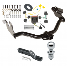 """Trailer Tow Hitch For 08-12 Ford Escape Mazda Tribute 05-11 Mercury Mariner Complete Package w/ Wiring and 1-7/8"""" Ball"""