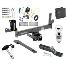 "Trailer Tow Hitch For 13-14 BMW X1 w/Panoramic Moonroof Deluxe Package Wiring 2"" Ball and Lock"