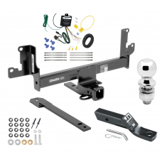 "Trailer Tow Hitch For 13-14 BMW X1 w/Panoramic Moonroof Complete Package w/ Wiring and 2"" Ball"