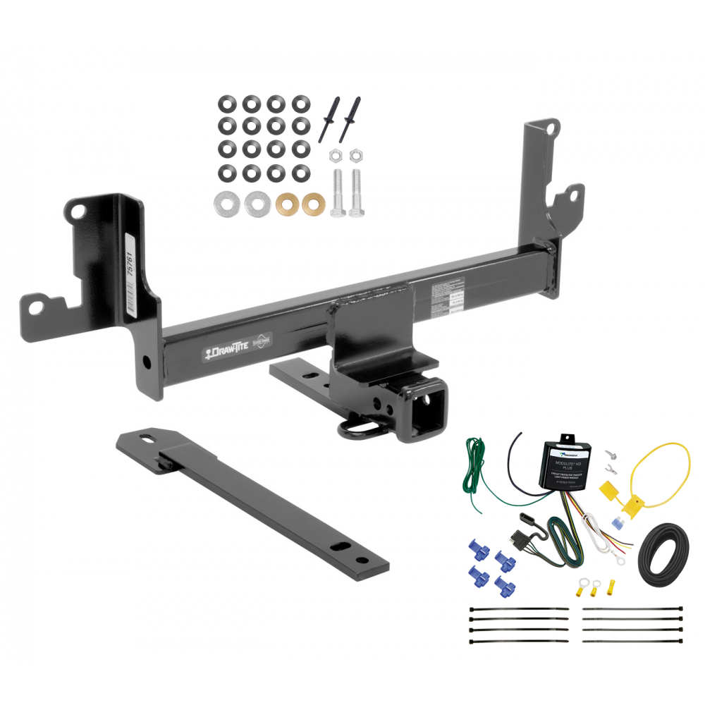 trailer tow hitch for 13-14 bmw x1 w/panoramic moonroof w/ wiring harness  kit  trailerjacks.com