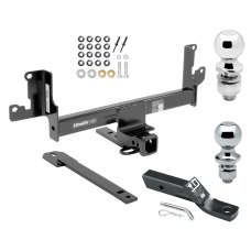 """Trailer Tow Hitch For 13-15 BMW X1 w/Panoramic Moonroof Receiver w/ 1-7/8"""" and 2"""" Ball"""