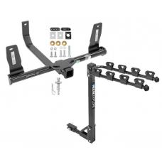 Trailer Tow Hitch w/ 4 Bike Rack For 10-15 Mercedes-Benz GLK350 tilt away adult or child arms fold down carrier