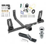 """Trailer Tow Hitch For 10-15 Mercedes-Benz GLK350 Complete Package w/ Wiring and 1-7/8"""" Ball"""