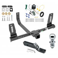 "Trailer Tow Hitch For 10-15 Mercedes-Benz GLK350 Complete Package w/ Wiring and 1-7/8"" Ball"