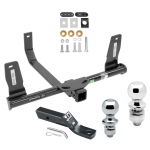 """Trailer Tow Hitch For 10-15 Mercedes-Benz GLK350 Receiver w/ 1-7/8"""" and 2"""" Ball"""
